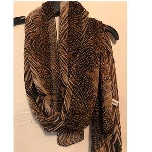 Calvin Klein georgette leopard print scarf